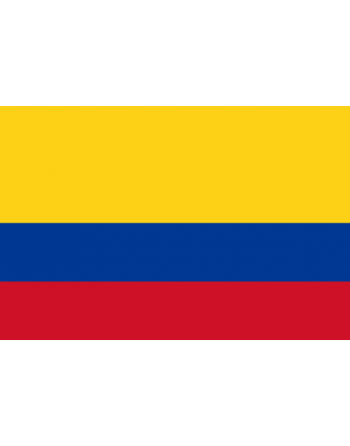 Aufnäher Nationalflagge Kolumbien mit Thermokleber