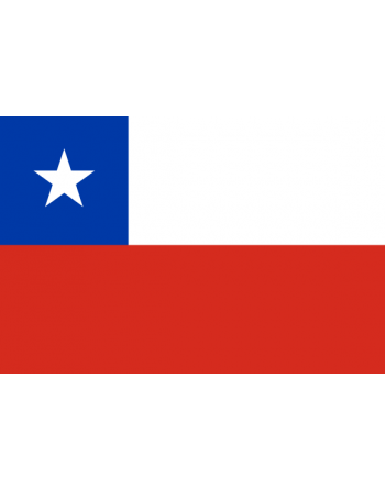 Aufnäher Nationalflagge Chile mit Thermokleber