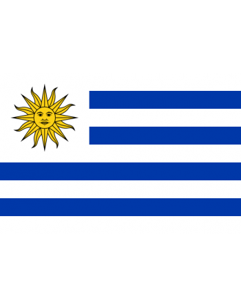 Iron-on embroidered Flag Uruguay