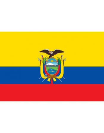 Iron-on embroidered Flag Ecuador