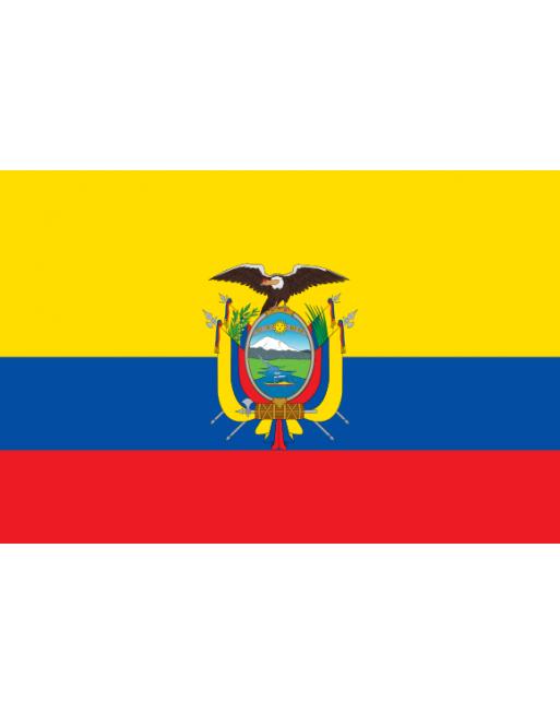 Aufnäher Nationalflagge Ecuador mit Thermokleber