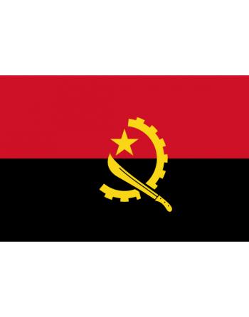 Iron-on embroidered flag Angola