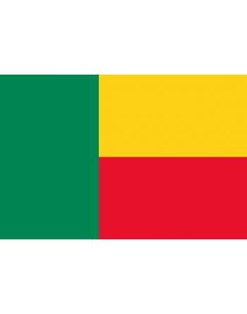 Iron-on embroidered flag Benin