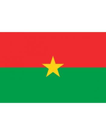 Aufnäher Nationalflagge Burkina Faso  mit Thermokleber