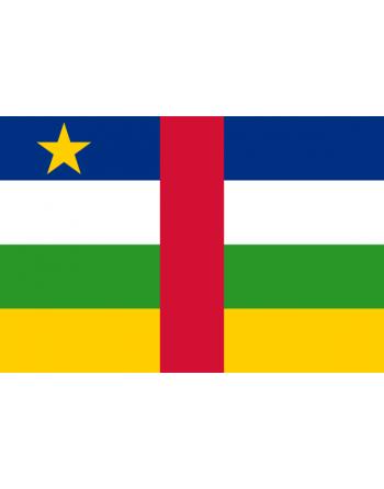 Aufnäher Nationalflagge Zentralafrikanische Republik mit Thermokleber