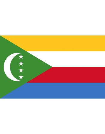 Aufnäher Nationalflagge Komoren mit Thermokleber