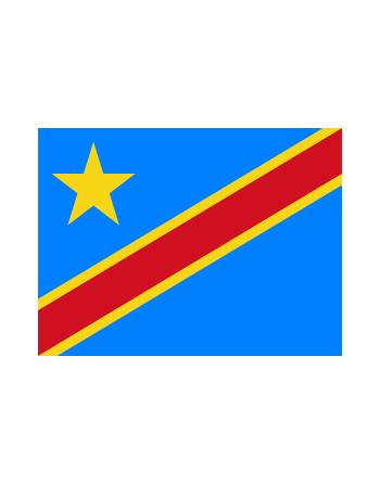 Aufnäher Nationalflagge Demokratische Republik Kongo mit Thermokleber