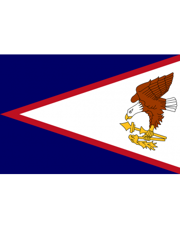 Aufnäher Nationalflagge Amerikanisch-Samoa mit Thermokleber