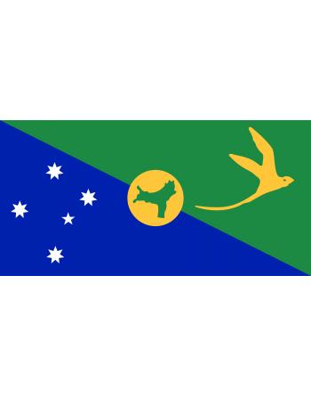 Iron-on embroidered flag Christmas Island