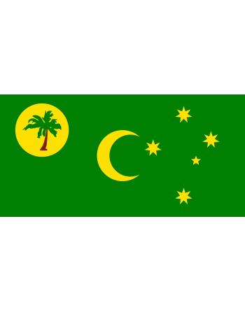 Aufnäher Nationalflagge Kokosinseln mit Thermokleber