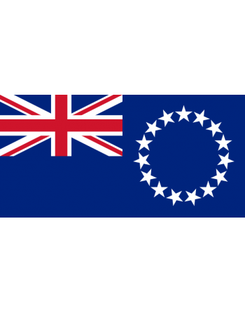 Aufnäher Nationalflagge Cookinseln mit Thermokleber
