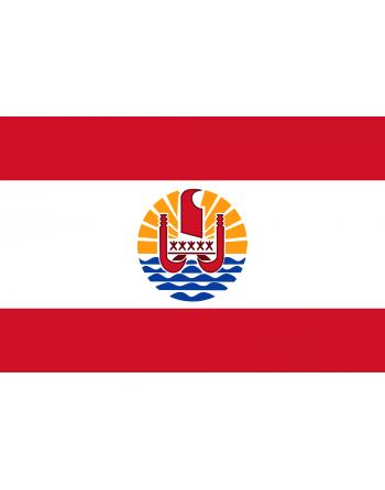 Iron-on embroidered flag French Polynesia