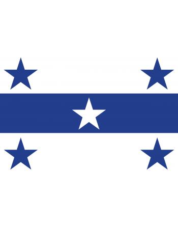 Aufnäher Nationalflagge Gambierinseln mit Thermokleber