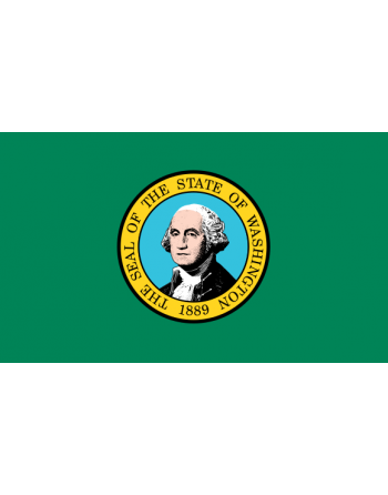 Aufnäher Nationalflagge Washington mit Thermokleber