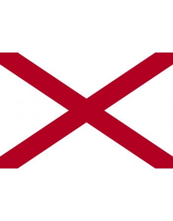 Aufnäher Nationalflagge Alabama mit Thermokleber