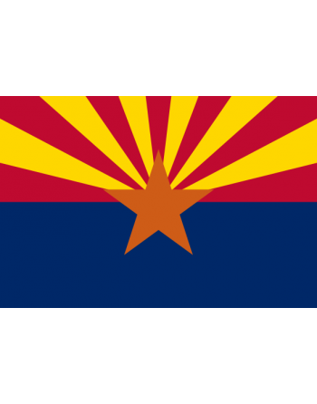 Aufnäher Nationalflagge Arizona mit Thermokleber