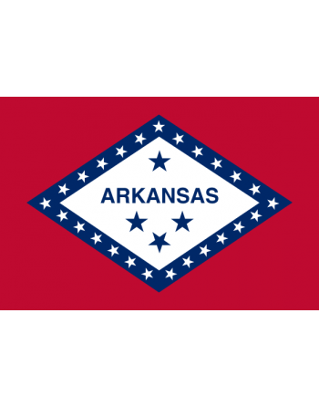 Écussons Drapeaux Arkansas thermocollant