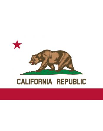 Aufnäher Nationalflagge Kalifornien mit Thermokleber