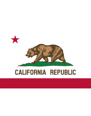 Écussons Drapeaux Californie thermocollant