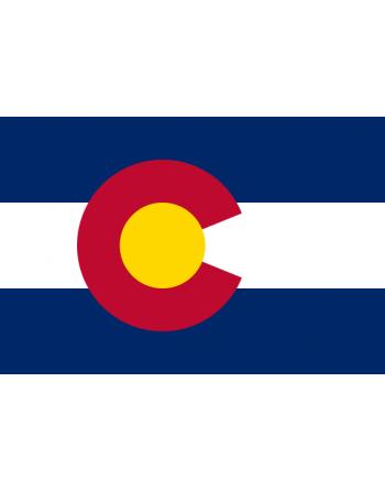 Aufnäher Nationalflagge Colorado mit Thermokleber