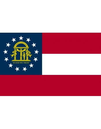 Aufnäher Nationalflagge Georgia mit Thermokleber