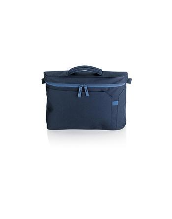 Cartella porta Documenti colore blu navy e blu avio per dirigenti, professionisti e manager, con logo aziendale personalizzato.