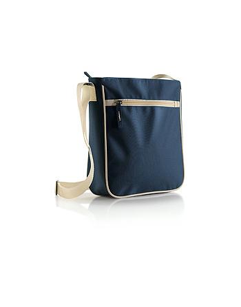 Tracollina con tasca colore blu navy e beige porta Ipad, documenti, per viaggio e vacanza.