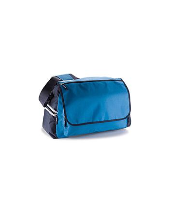 Borsa cm 47 x 33 x 23 Art. M13219 Diva colore lime e blu navy per corse