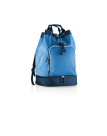 Blue royal and blue navy gymsack for athletes, clubs, associations