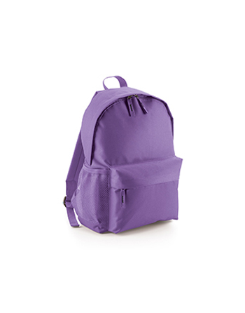 Promotional classic backpack with side and front pockets, padded straps, customizable