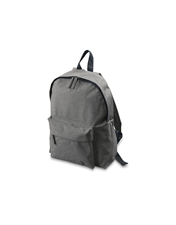 Grey promotional jeans backpack for companies and marketing with customized logo