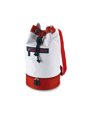 Red and blue navy fashion backpack for the beach