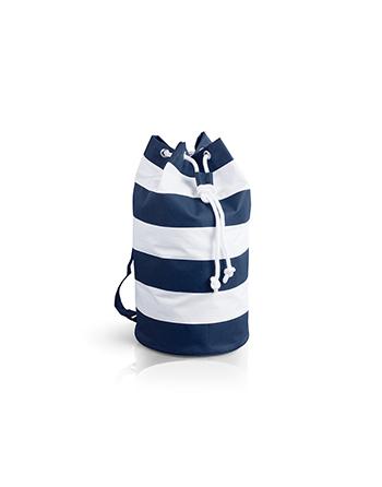 Sacca Mare con servizio personalizzazione a ricamo, colore blu navy e bianco, ideale spiaggia, viaggi, vacanze e barca.