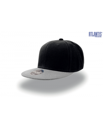 Snapback caps colour black/grey with bespoke patch and embroidery.