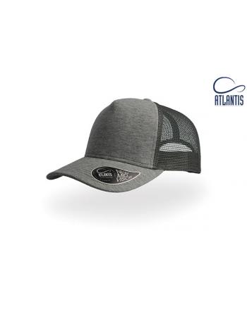 Trucker Hut mit Jersey-Stoff dunkelgraue Farbe, mit kundenspezifische Stickerei.