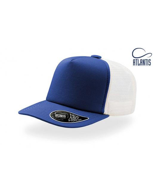 Cappello trucker colore blu royal 100% cotone e retina in mesh poliestere 2ce79cf1c531