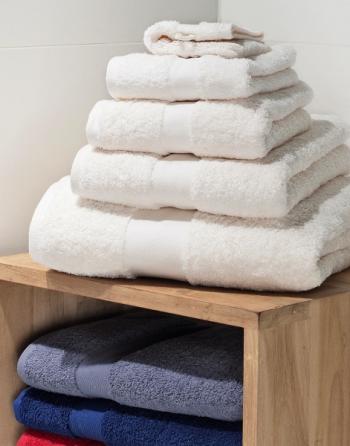 Asciugamano - telo grande in spugna Gr.550 cm 100x180 per centri termali, saune, Spa e centri wellness, con logo ricamato.