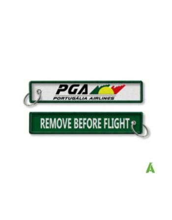 Portachiavi Remove Before Flight personalizzato con la tua scritta.