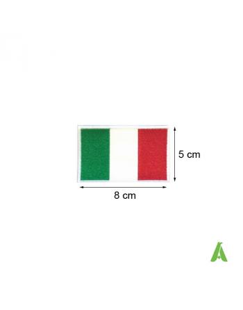 Drapeau Italien cm. 8x5 thermocollant et à coudre pour habillement, Art. FLAG 200