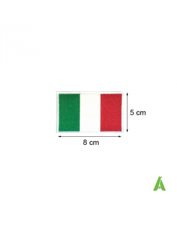 Italian flag cm 8x5 to sew and heat-apply on textile, accessories, caps and clothing. Art. FLAG 200.