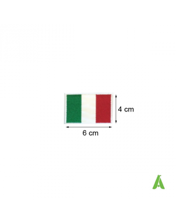 Italian flag to sew and heat-apply cm 6 x 4 for clothing and textile, ART.FLAG 201