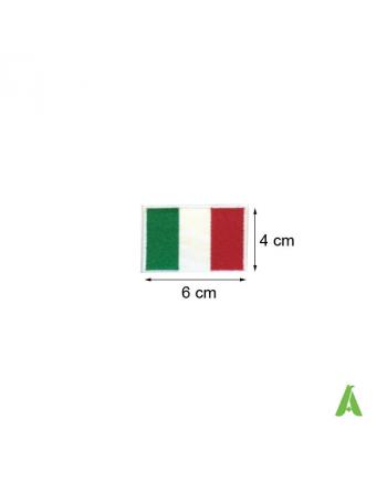 Italienische Flagge Thermokleber und Nähen ART.FLAG 201, cm. 6 x 4.