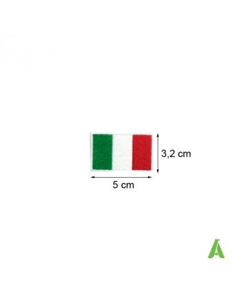 Bandera Italiana cm 5 x 3,2 coser y termoadhesivos para ropa deportiva. Art. FLAG202 Bandera Italia tricolor.