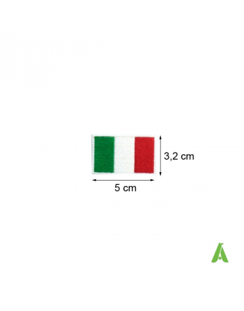 Italian flag cm 5 x 3.2 to sew and heat-apply for garment, caps, sportswear and textile. Art. FLAG202