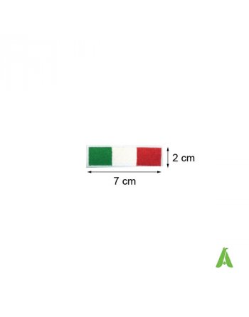 Parches bandera italiana termoadesivos, de coser para ropa, cm 7 x 2