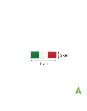 Italienische Flagge 7x2 cm thermoadhäsiv und Nähen Art. FLAG203