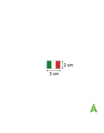 Italian flag to sew and heat-apply for caps, texile, accessories, Art. FLAG204 cm 3 x 2