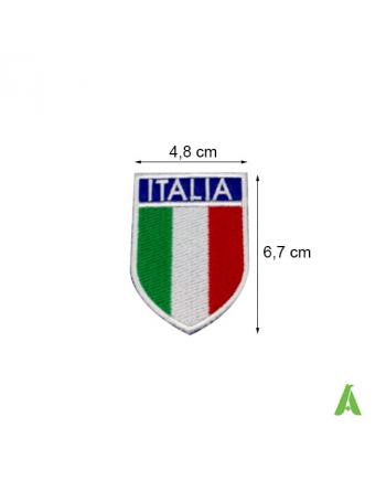 Escudo bordado bandera Italiana sobre tejido con tricolor y perímetro blanco. Art. FLAG101