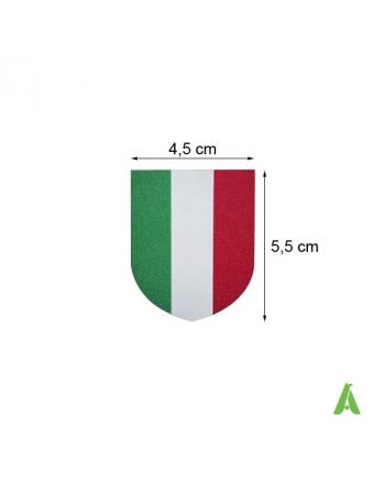 Bandera Italiana en tejido termoadhesivos y coser para ropa y deportivo, Art. FLAG400, cm 4,5 x 5,5.