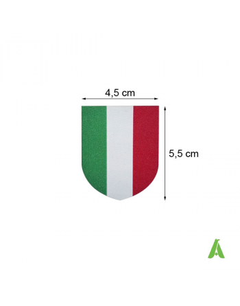 Italian woven flag cm 4.5 x 5.5  thermo-adhesive and for sewing on textile Art. FLAG400 cm 4.5 x 5.5